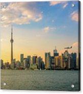 Toronto Skyline At Sunset Acrylic Print