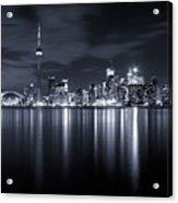 Toronto Skyline Monochrome Acrylic Print