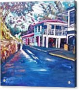 Tortola  Main Street Acrylic Print