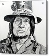 Tosawi Comanche Chief Acrylic Print
