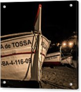 Tossa De Mar By Night Acrylic Print