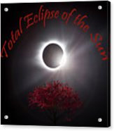 Total Eclipse Of The Sun In Art Acrylic Print