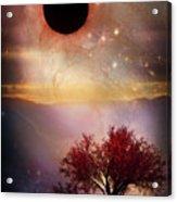 Total Eclipse Of The Sun Tree Art Acrylic Print