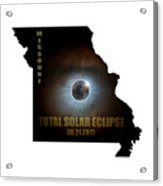 Total Solar Eclipse In Missouri Map Outline Acrylic Print