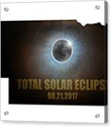 Total Solar Eclipse In Nebraska Map Outline Acrylic Print