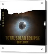 Total Solar Eclipse In Oregon Map Outline Acrylic Print