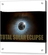 Total Solar Eclipse In Tennessee Map Outline Acrylic Print