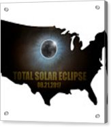 Total Solar Eclipse In United States Map Outline Acrylic Print