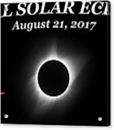 Total Solar Eclipse Stages Acrylic Print