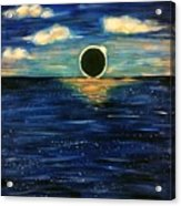 Totality On The Sea - Solar Eclipse  Acrylic Print