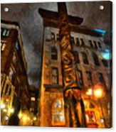 Totem In The City Acrylic Print