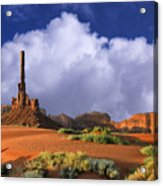 Totem Pole Monument Valley Acrylic Print