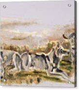Totem Wolf Sunset Acrylic Print