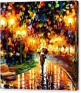 Touch Of Rain Acrylic Print