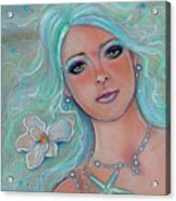 Touch Of Spring Mermaid Acrylic Print