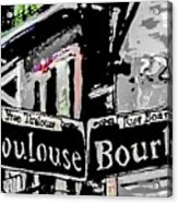 Toulouse And Bourbon Acrylic Print