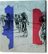 Tour De France Acrylic Print