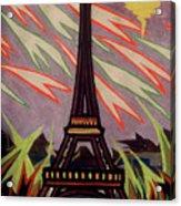 Tour Eiffel Et Ovni Acrylic Print