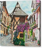 Touring In Eguisheim Acrylic Print