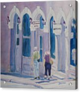 Tourists In Central City Acrylic Print