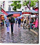 Tourists - Paris - Place Du Tertre Acrylic Print
