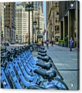 Towards Wrigley Building Acrylic Print
