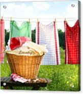 Towels Drying On The Clothesline Acrylic Print