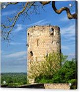 Tower At Chateau De Chinon Acrylic Print