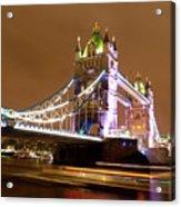 Tower Bridge Evening Acrylic Print