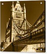 Tower Bridge In Sepia Acrylic Print