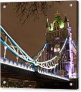 Tower Bridge Lights Acrylic Print