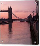 Tower Bridge Sunrise Acrylic Print by Donald Davis