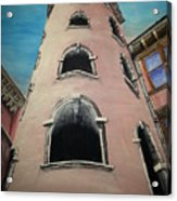 Tower In Lyon France Traboules Acrylic Print