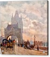 Tower Of London Bridge Acrylic Print