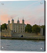 Tower Of London On The Thames Acrylic Print