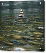 Tower Of Stones Acrylic Print