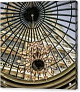 Tower Through Glass Dome In Bellagio Ceiling Acrylic Print