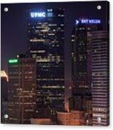 Towering Buildings Of Pittsburgh Acrylic Print