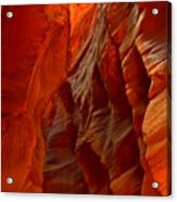 Towering Fiery Walls Acrylic Print