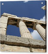 Towering Grecian Pillars Acrylic Print