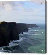 Towering Sea Cliffs In Ireland's County Clare Acrylic Print