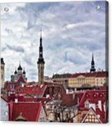 Towers Of The Tallinn Old Town Acrylic Print