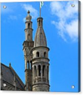 Towers Of The Town Hall In Bruges Belgium Acrylic Print