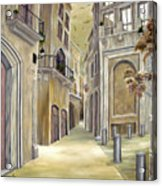 Town Alley Acrylic Print