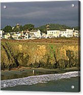 Town At The Seaside, Mendocino Acrylic Print