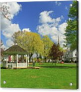 Town Common In Spring Brookfield Massachusetts Acrylic Print