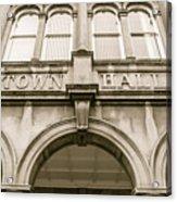 Town Hall, Arch And Windows Acrylic Print