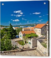 Town Of Betina Architecture And Coast Acrylic Print