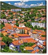 Town Of Drnis And Dalmatian Inland Panorama Acrylic Print