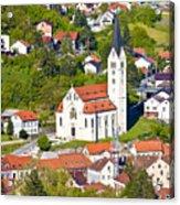 Town Of Krapina Church Vertical View Acrylic Print